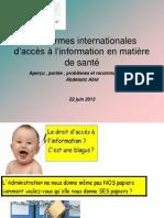 les normes internationales du droit d'accés à la santé.ppt