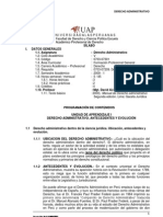 1. Silabo Desarrollado de Derecho Administrativo Uap - 2012 Final (1)