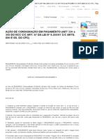 AÇÃO DE CONSIGNAÇÃO EM PAGAMENTO (ART 334 a 345 DO NCC C_C ART. 67 DA LEI Nº 8.245_91 C_C ARTS. 890 E SS