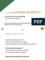 réseaux sociaux du web 2.0