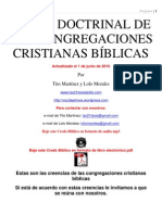 CREDO DOCTRINAL DE LAS CONGREGACIONES CRISTIANAS BÍBLICAS