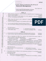 VTU Material Management Question Paper