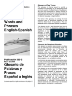 Glossary of Words and Phrases Eng-Spa (CA State)