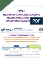 HPTC Sistema di termoregolazione ad alta precisione per il progetto Fermi@Elettra