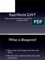 Building Blueprint with GWT