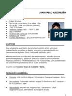 CV JUAN ARIZTIMUÑO 2013