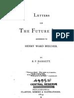 Benjamin F Barrett LETTERS on THE FUTURE LIFE Philadelphia 1873