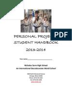 Senn Personal Project Student Handbook 2013-14