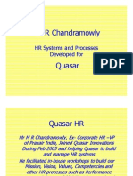 Competency Based HR Systems Developed by Chandramowly for an IT Company
