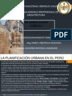 Planificacion Urbana en El Peru