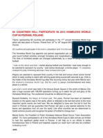 Poznan 2013 Homeless World Cup First Press Release 2