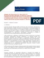 Consiglio Europa Accordo Parziale Allargato Itinerari Culturali