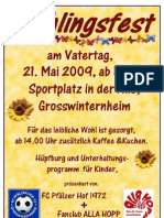 Plakat Frühlingsfest_2009