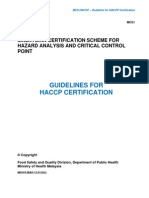 Malaysian Certification Scheme for HACCP