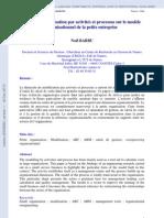 Role de La Modelisation Par Activites Et Processus Sur Le Modele Organisationnel de La Petite Entreprise