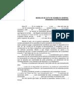 Acta-modelo de Asamblea Ordinaria y Extraordinaria