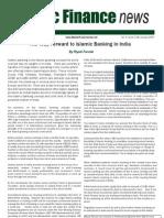The Way Forward to Islamic Banking in India by Riyazi Farook