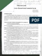 TECNICAS COGNITIVO-COMPORTAMENTAIS(1)