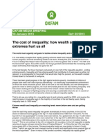 Cost of Inequality -Oxfam Report