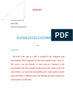 Water Level Controller project report by Suraj Cr