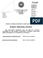 Public Meeting Notice St Tammany Parish Council
