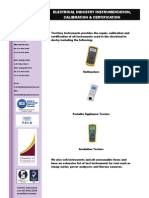 Electrical Test Equipment Flyer