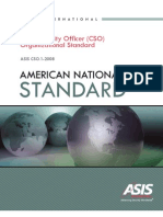 ASIS Chief Sec Officer Asis Standard