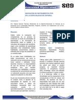 ANALISIS DE LA ELABORACIÓN DE INSTRUMENTOS POR COMPETENCIAS DE LA ESPECIALIDAD DE ESPAÑOL