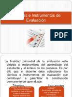 Tcnicas e Instrumentos de Evaluacin 2012