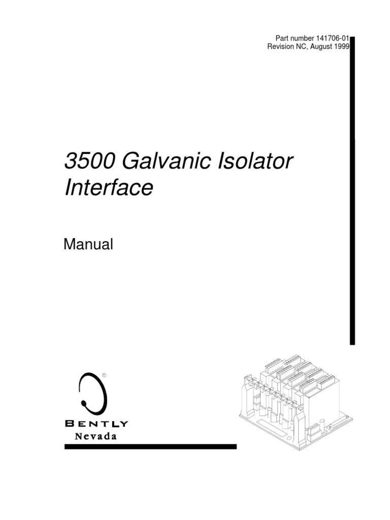 bently nevada 3500 manuals