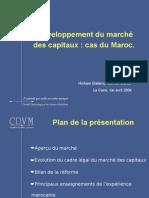 CDVM (Morocco Regulator) Pres evo marché
