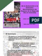 Las Olas Del Feminismo y Organizaciones en Colombia, Doris Lamus