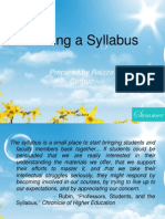 Defining a Syllabus by RPC