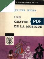 Les Quatre Ages de La Musique Walter Wiora