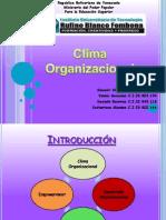 Clima organizaional.diapositivas