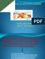 Proposal Usaha Roti Bakar