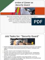 Security Guard Career