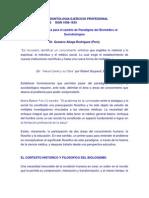 Formulaciones para el cambio de Paradigma del Biomédico al Sociobiológico