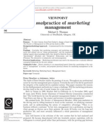 Malpractice of Marketing Management