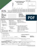 Cet Application Form