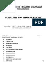 Seminar Report Guidelines