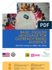 Basic English Language for Outreach Radio Audience Bangladesh