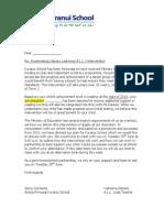 ALL Parent Intervention Letter