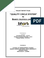 Report Ignou Quality Circle333
