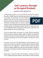 An itinerant's journey through Pakistan Occupied Kashmir