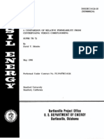 Comparison of relative permeability from centrifuging versus corflooding SUPRI TR 72