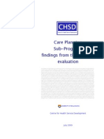 Care Planning Final Evaluation Report