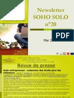 Newsletter Soho Solo n20 Mai09