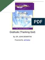 Gratitude Thanking God by Dr John Demartini