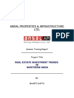 Ansal Real Estate Project report